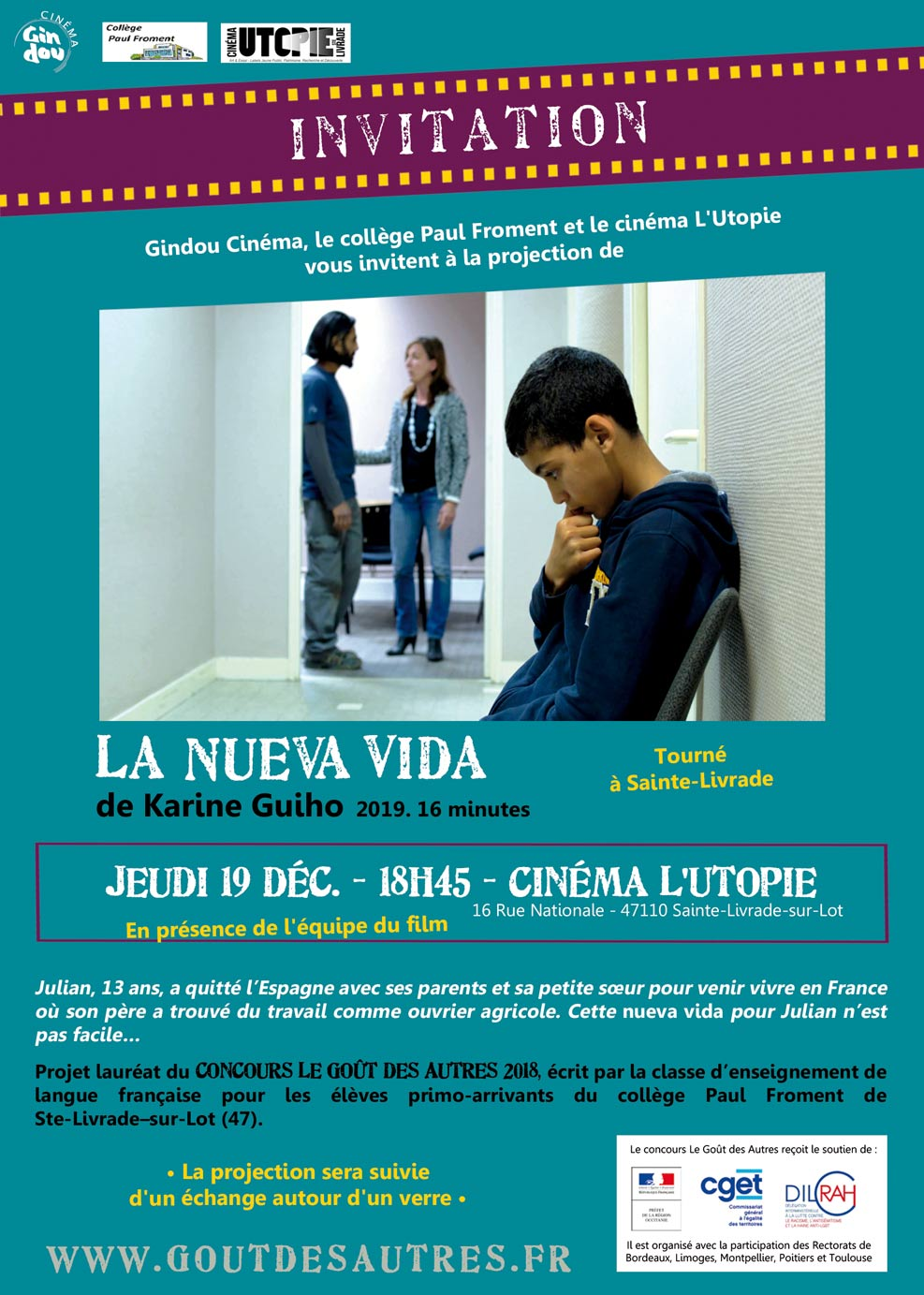 La Neuva Vida projection 19 dec